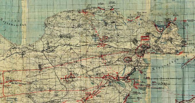 Карта с обстановкой вокруг