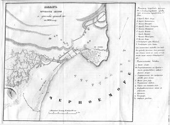 План крепости Анапе и действий против неё в 1828 году