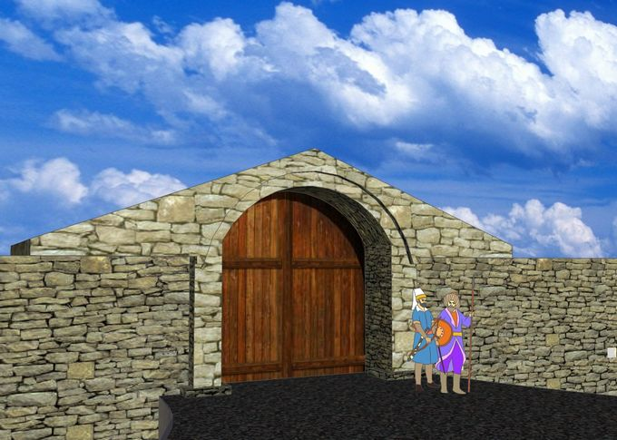 3D модель «Полевых ворот» («Средних ворот») крепости Анапа