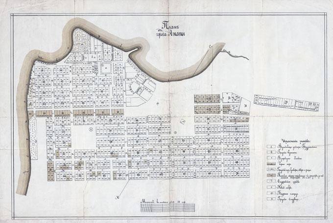 Старая карта Анапы - План города Анапа периода 1914—1924 г.г.