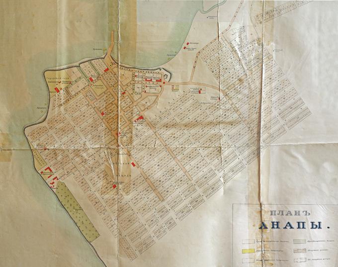 Старая карта Анапы