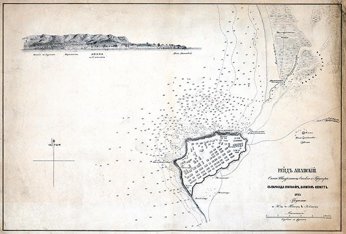 Карта Анапского рейда 1855 г.