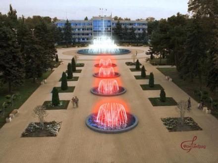 Фонтанный комплекс на площади Советов