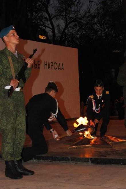 Факельное шествие согрело сердца анапчан