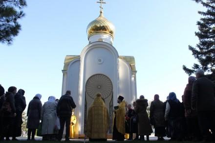 На площади Советов состоялся праздничный молебен
