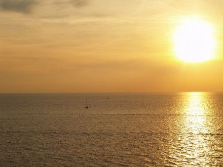 АнапаСегодня, 19 октября 2015 года, закат на Набережной